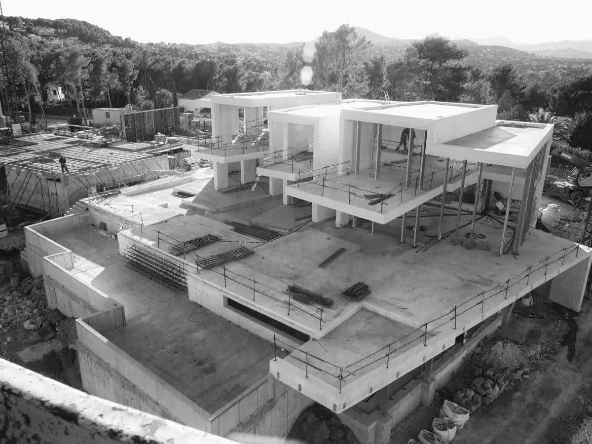 Casa Sardinera en fase de construcción