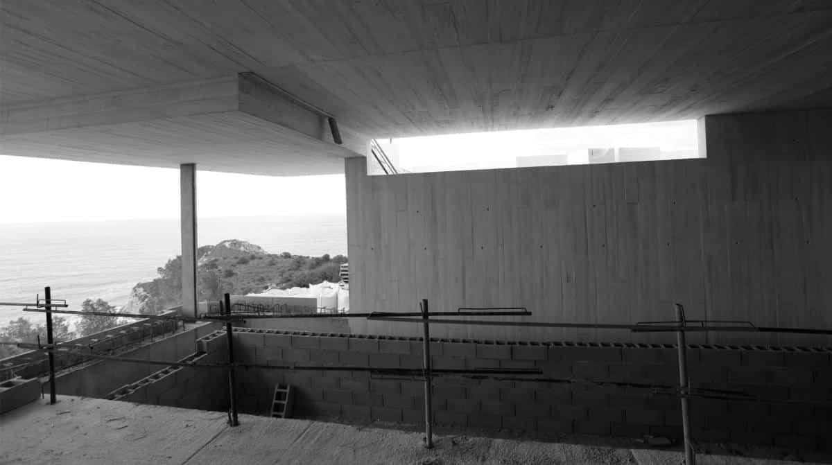 Casa Sardinera construcción de la piscina