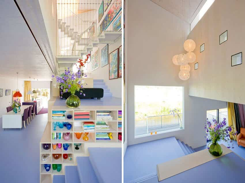 Espacio interior casa diseñada por Marc Koehler para su madre