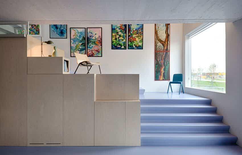 Tramo escalera de la casa diseñada por Marc Koehler para su madre