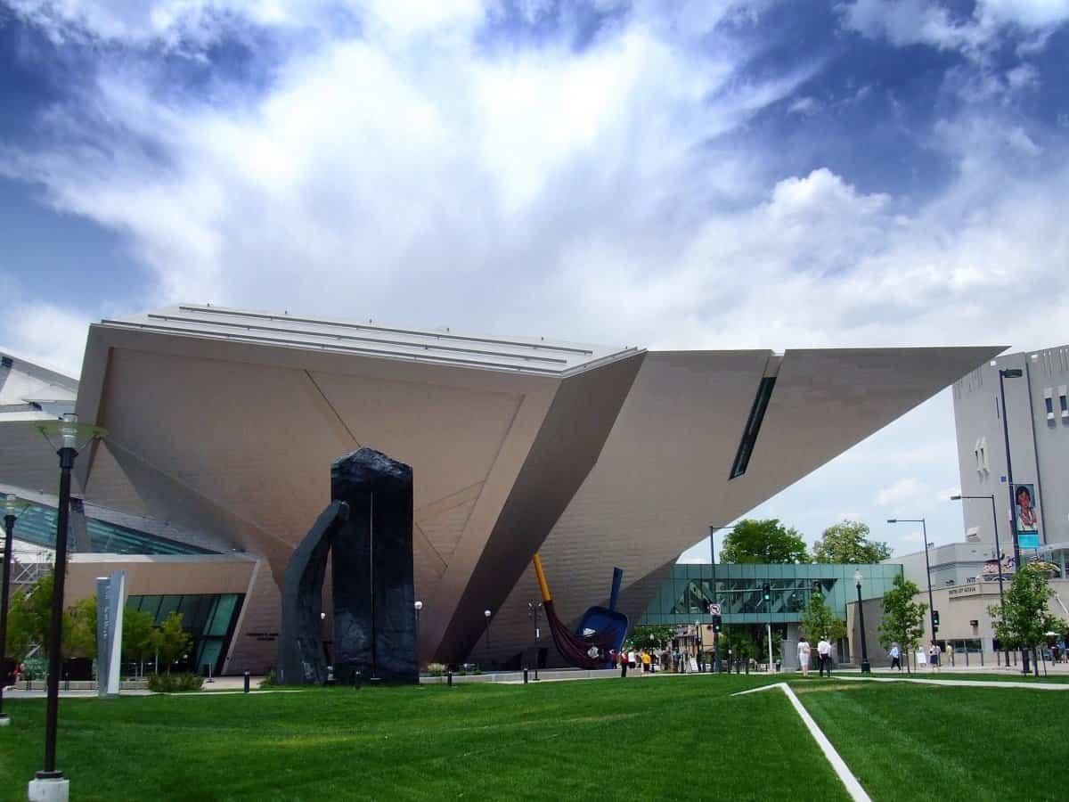 arquitectura poco convencional - museo de arte de denver
