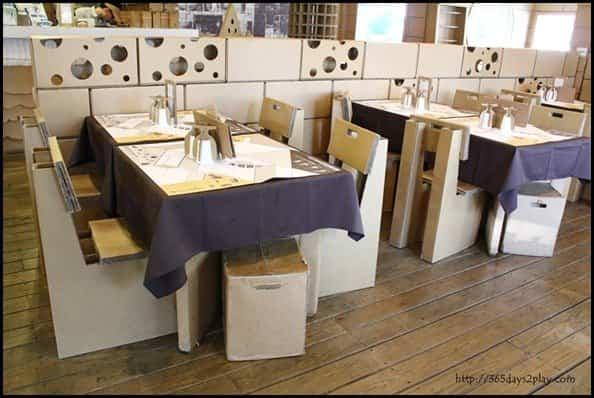 Restaurante construido con cartón reciclado - nuevo restaurante en shanghai
