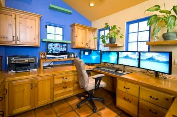casa reformada para catorce gatos - oficina