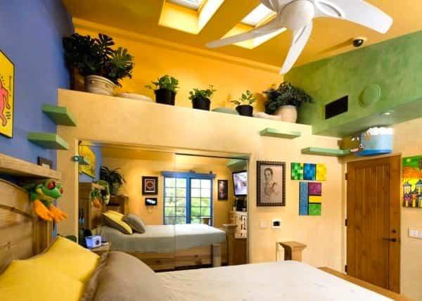 casa reformada para catorce gatos - dormitorio principal