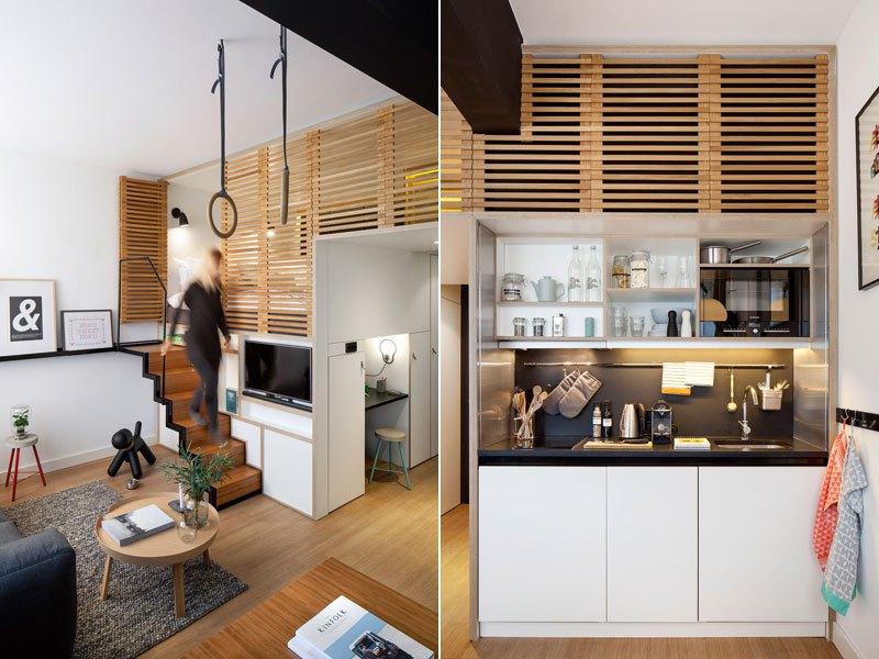 Loft en un hotel cocina equipada