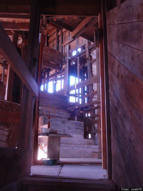 Estructura de madera de la Casa del árbol