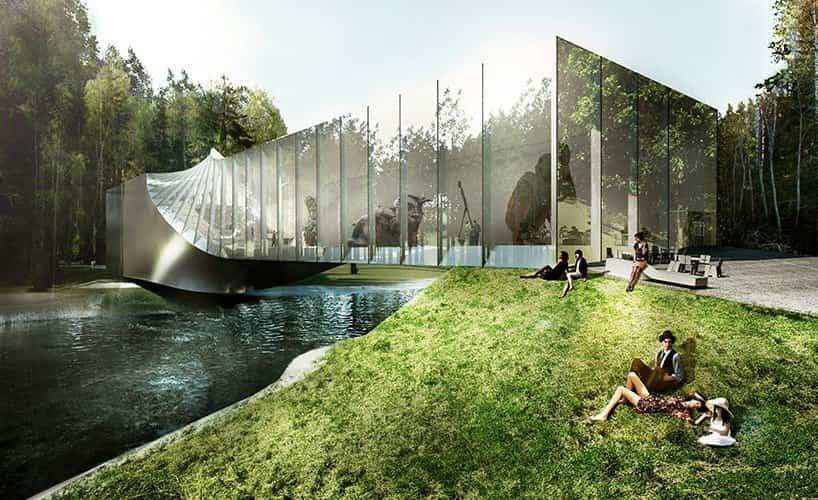 proyecto museo Kistefos noruega formado por una simple viga