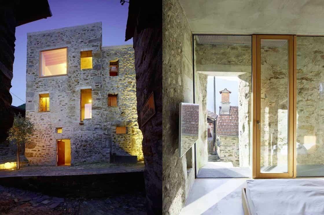 reforma edificios viejos - edificio de piedra abandonado