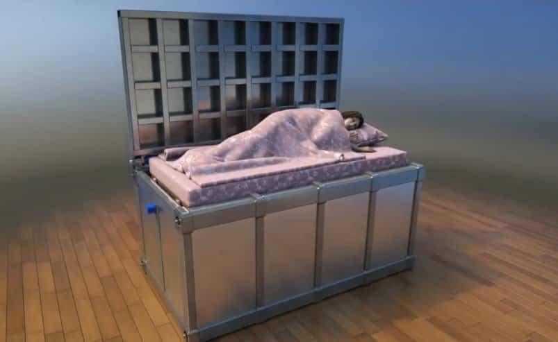Camas que nos pueden salvar la vida - cama individual cofre cerrado