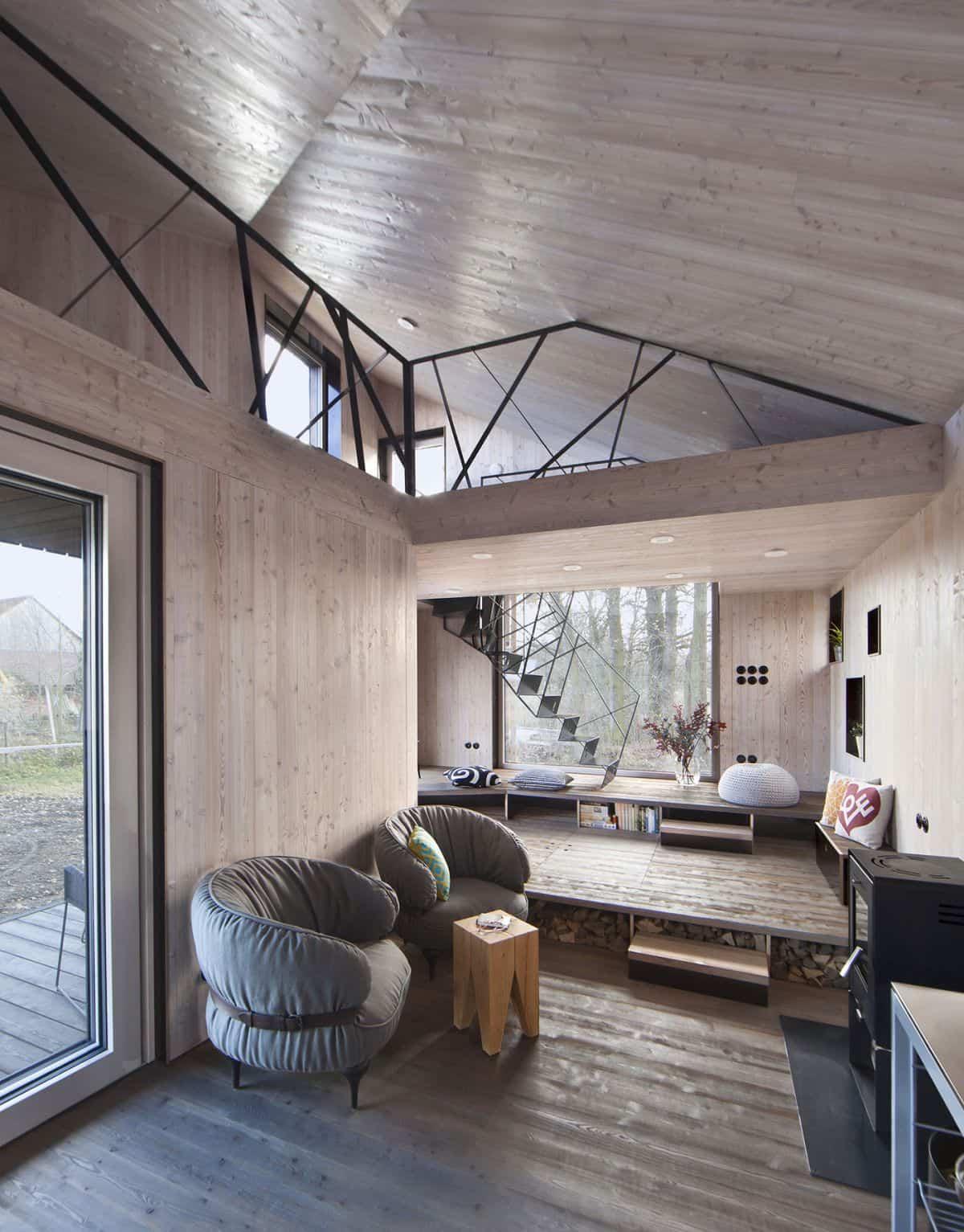 Casa de madera Zilvar piso superior