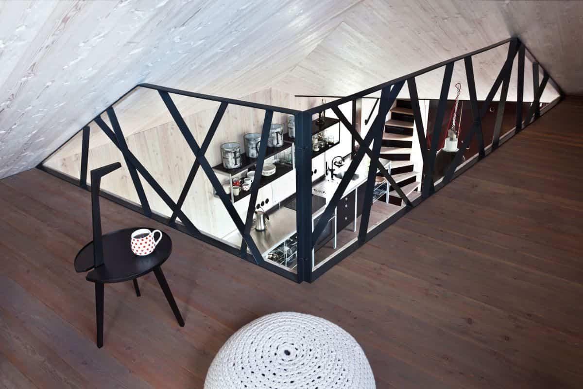 Casa de madera Zilvar - pasarela superior