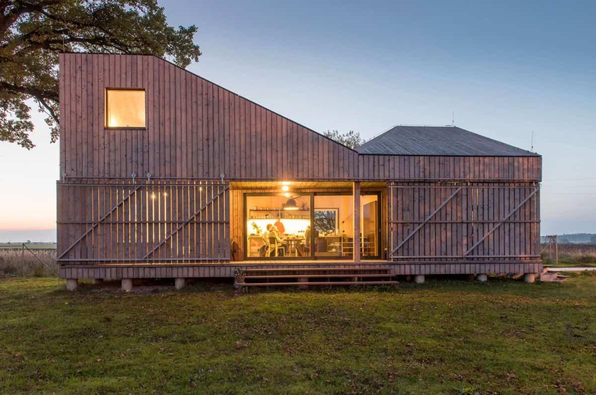 Casa de madera Zilvar - vista desde fuera