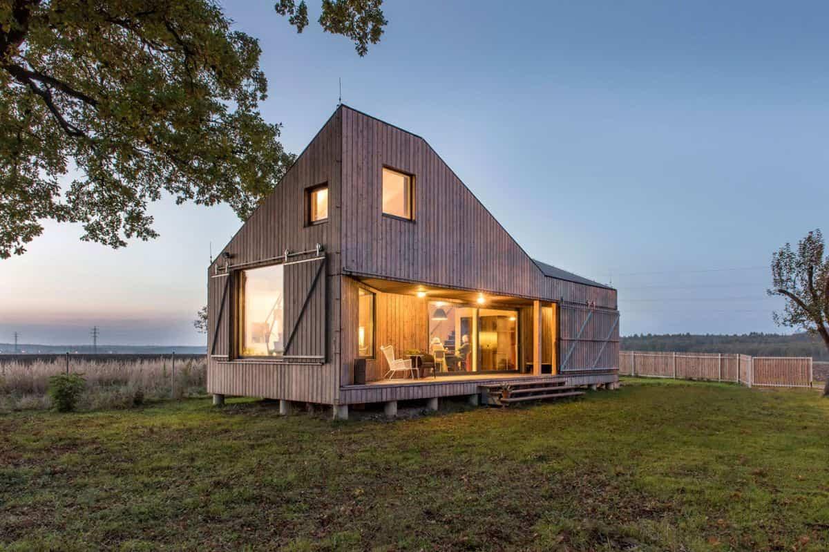 Casa de madera Zilvar - un diseño novedoso