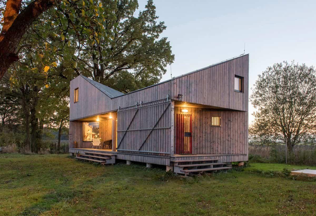 Casa de madera Zilvar fabricada en la República Checa