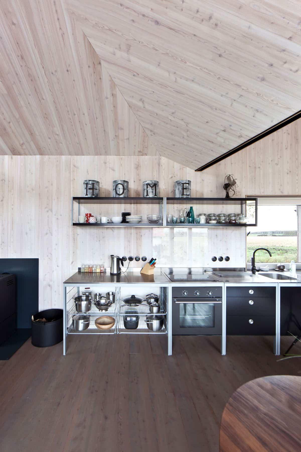 Casa de madera Zilvar cocina completa