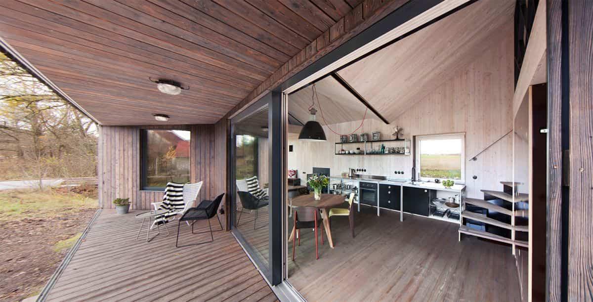 Casa de madera Zilvar - patio exterior