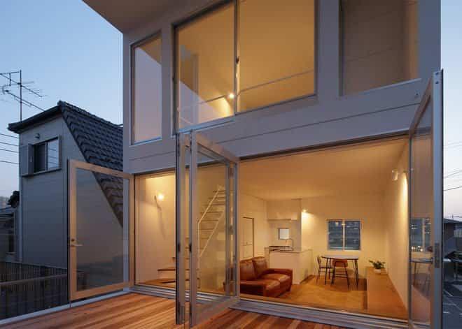 casa minimalista japonesa con terraza para yoga ForCasa Minimalista Japonesa