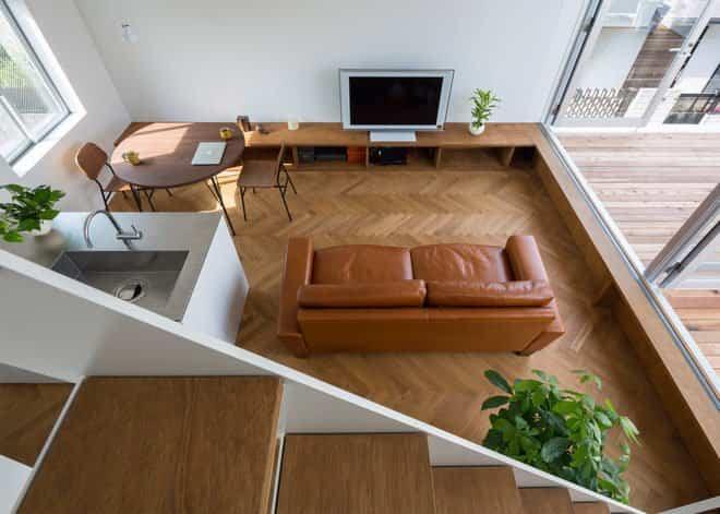 Casa minimalista japonesa parte del salón