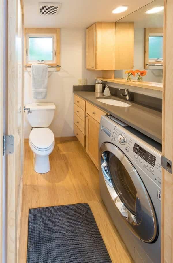 bonita casa sobre ruedas con baño completo
