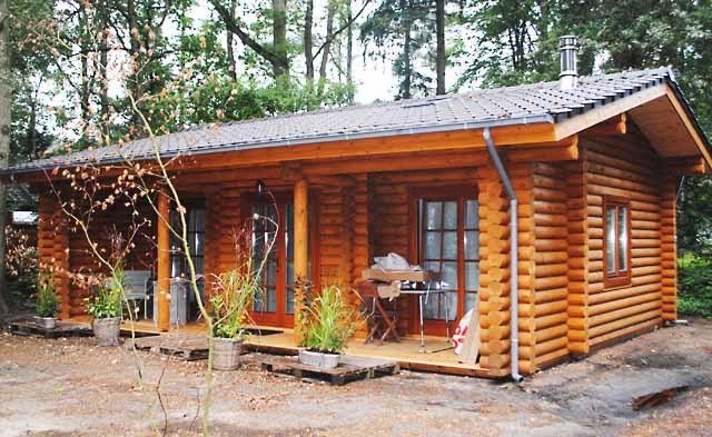 cabaña de madera fácil de montar