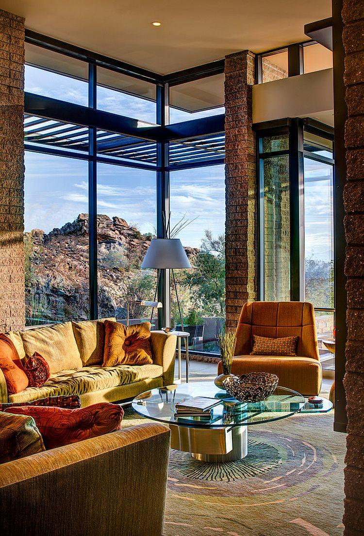 casa contemporánea cerca del desierto
