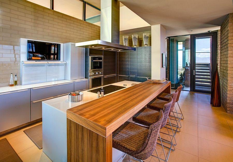 cocina de diseño de esta casa contemporánea