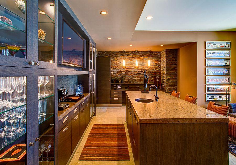cocina de lujo de la casa contemporánea