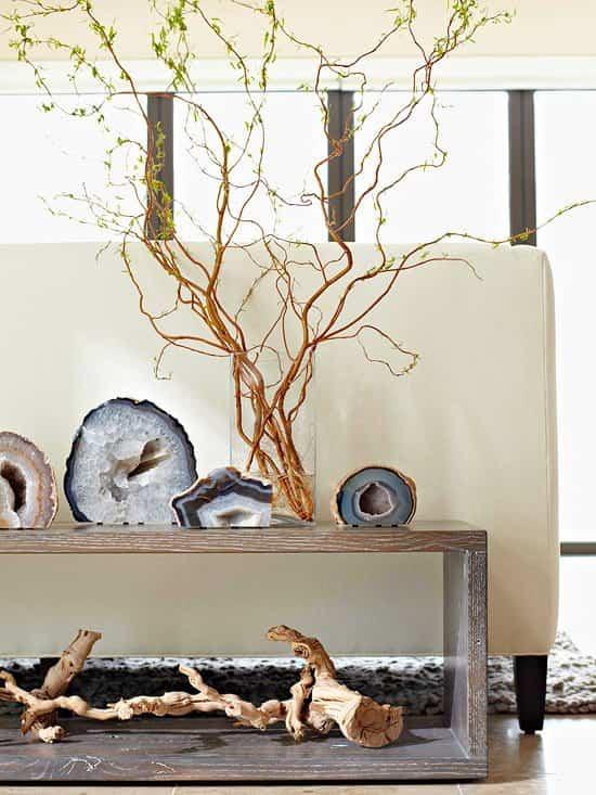 elementos naturales con los que decorar nuestro hogar - ramificaciones torcidas