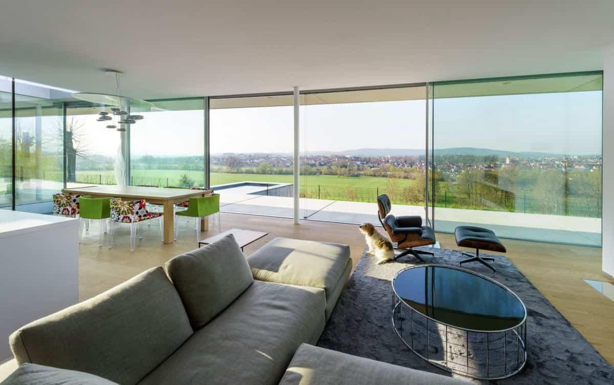 Proyecto Villa K en Alemania vistas panorámicas de la zona