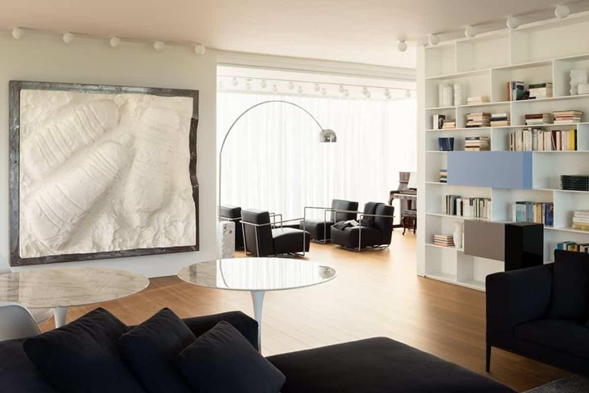 residencia moderna en Montebelluna - sala de estar familiar