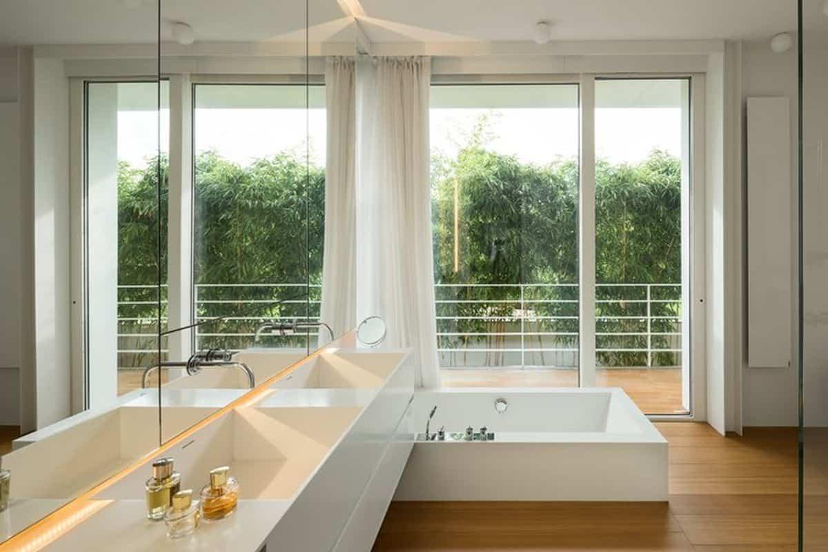 residencia moderna en Montebelluna - baño privado