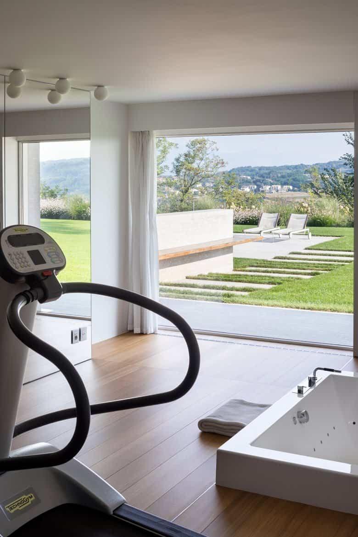 residencia moderna en Montebelluna - sala fitness