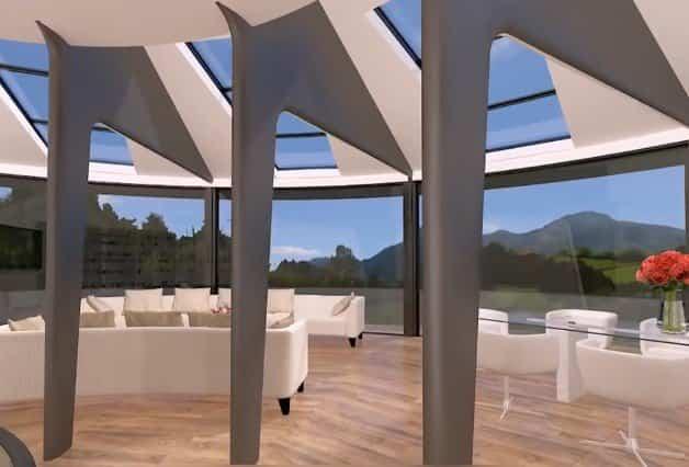 SunHouse 360º estructura metálica y de madera