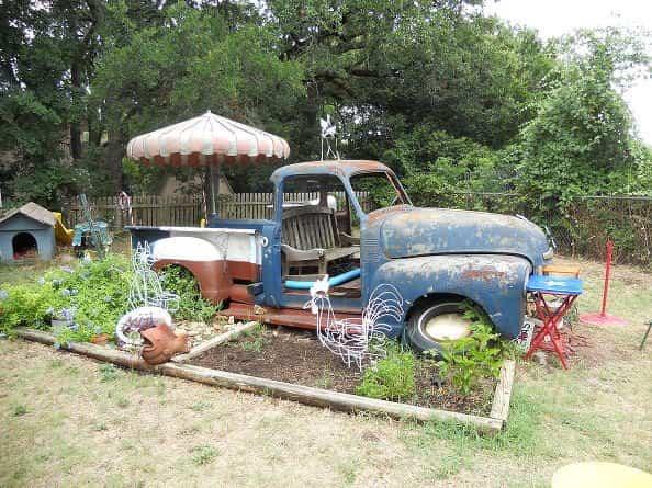 vieja camioneta para decorar la casa - camioneta para el jardín