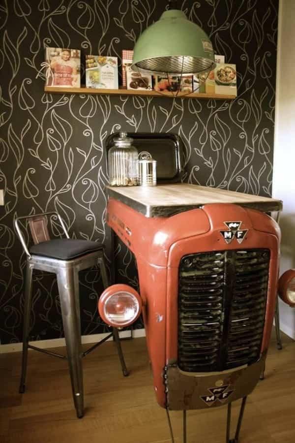 vieja camioneta para decorar la casa - barra americana