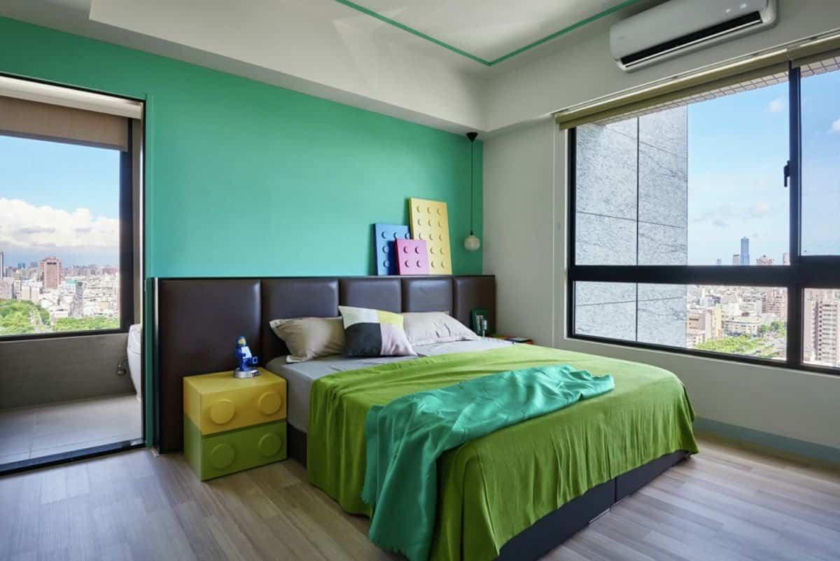 Apartamento inspirado en las piezas de Lego - dormitorio principal