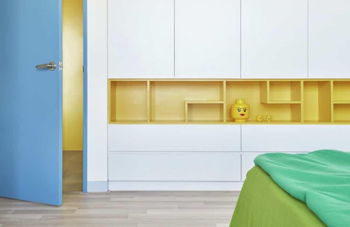 Apartamento inspirado en las piezas de Lego - dormitorio infantil