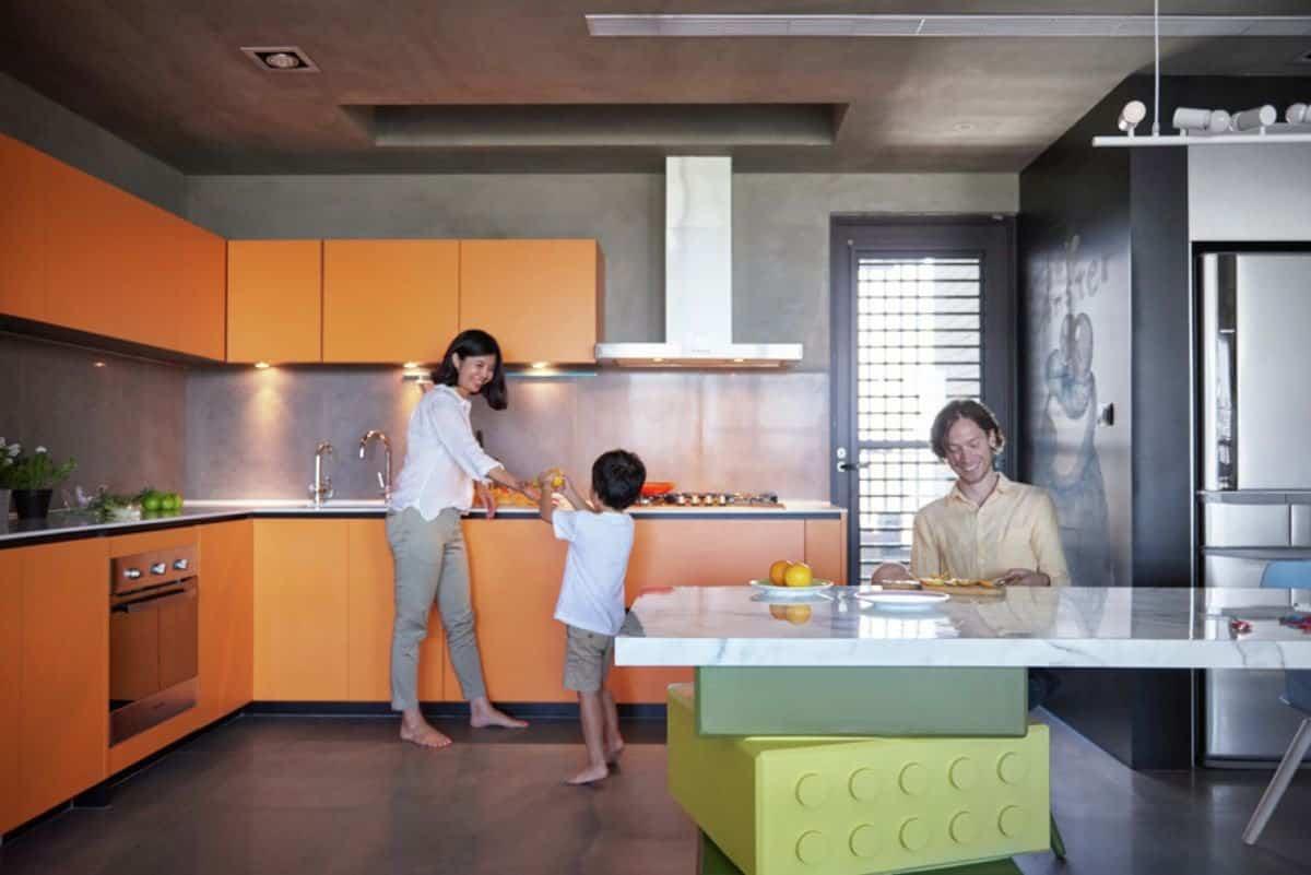 Apartamento inspirado en las piezas de Lego - cocina