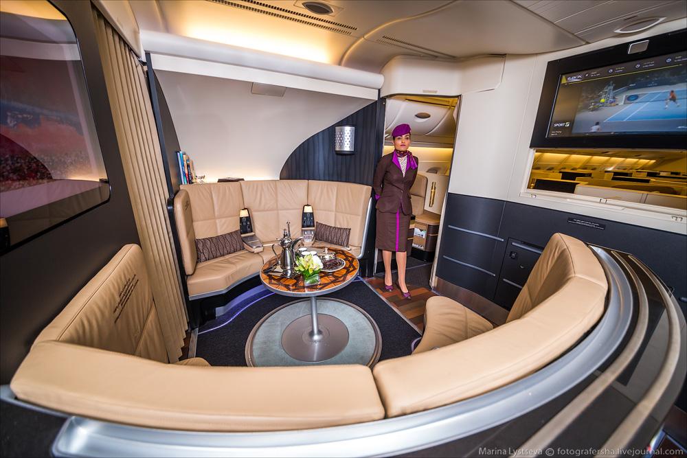 avión más lujoso del mundo - zona común