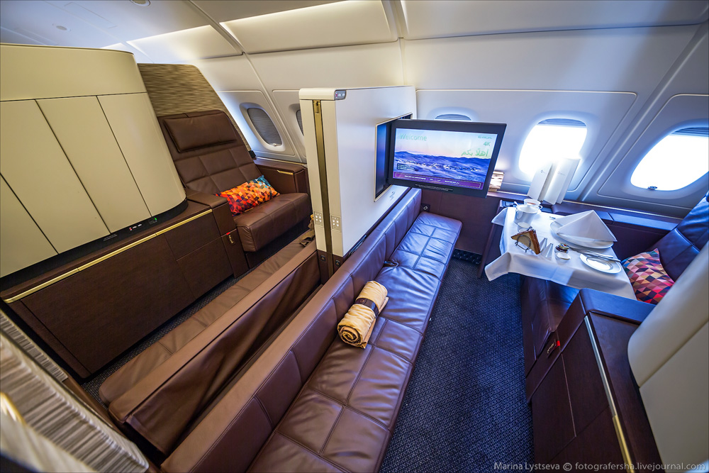 avión más lujoso del mundo - espacio más grande