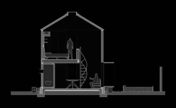 casa espectacular en silo abandonado - plano del diseño