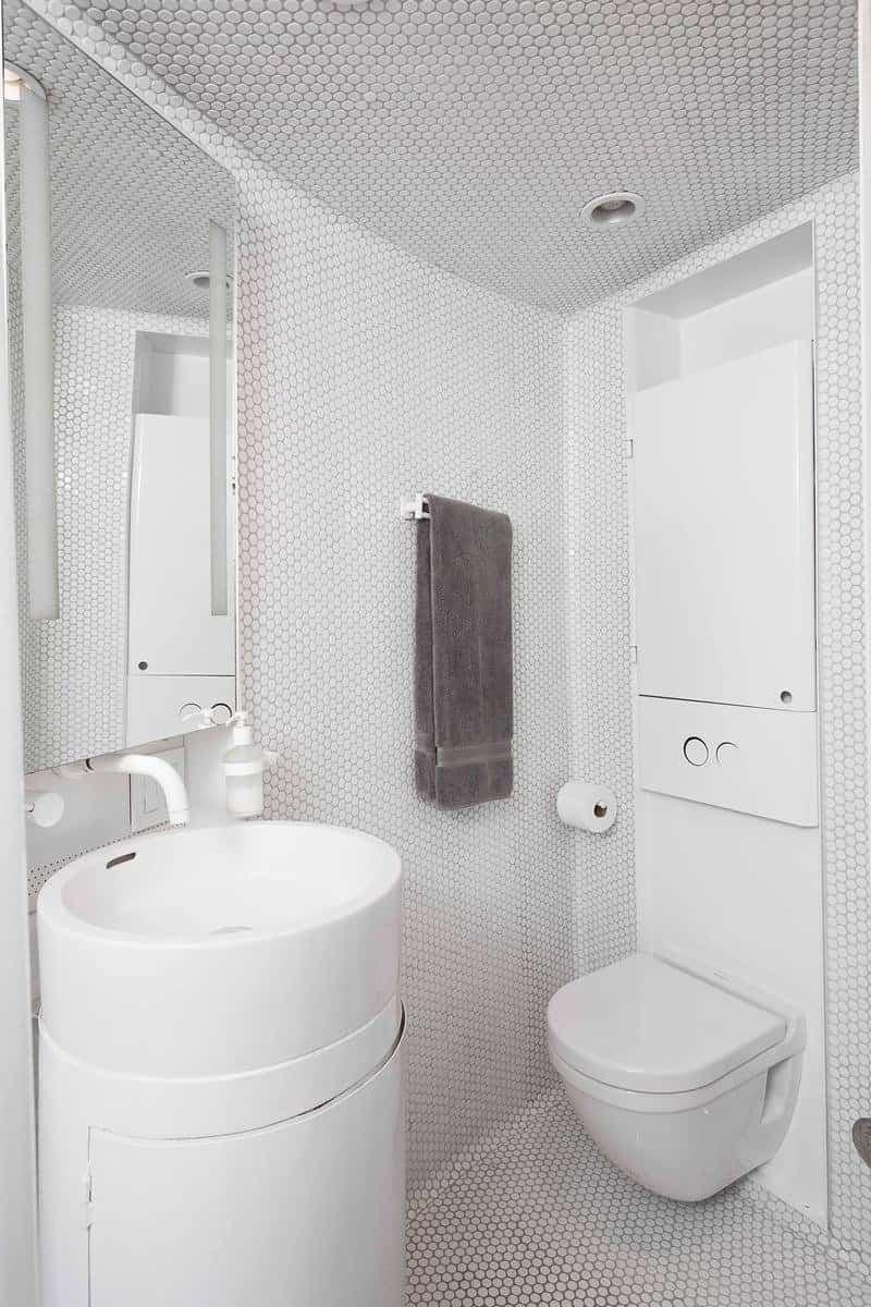 casa espectacular en silo abandonado diseño moderno del baño