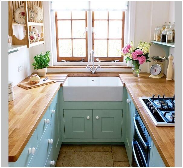 cocina parezca más grande - diseño forma de U