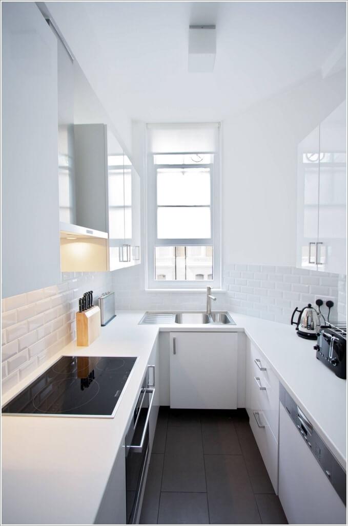 cocina parezca más grande - utilizar color blanco