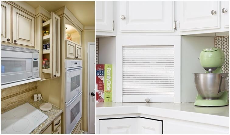 cocina parezca más grande - almacenamientos ocultos