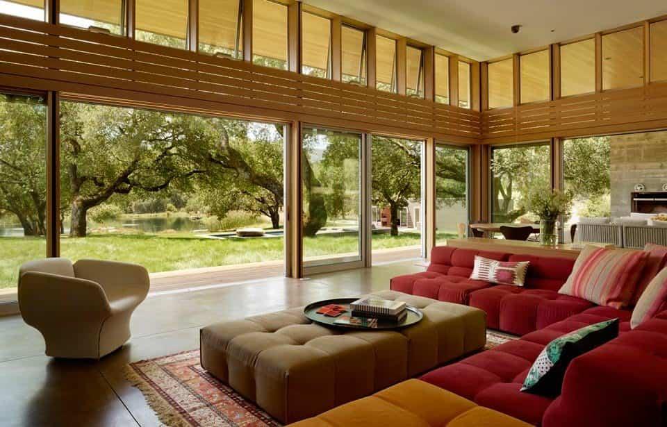 residencia Sonoma con ventanas plegables