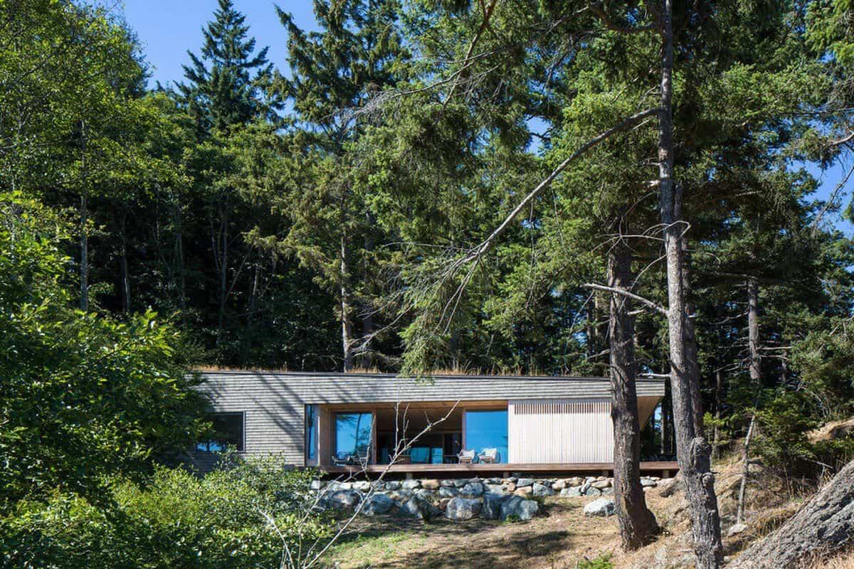 Lone madrone una casa de campo moderna cerca de un lago for Diseno de casas de campo modernas
