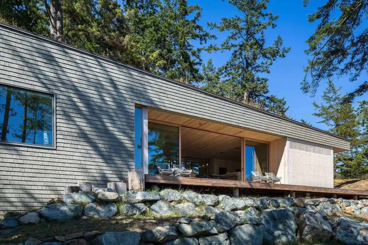 casa de campo moderna Lone Madrone en la isla de las Orcas