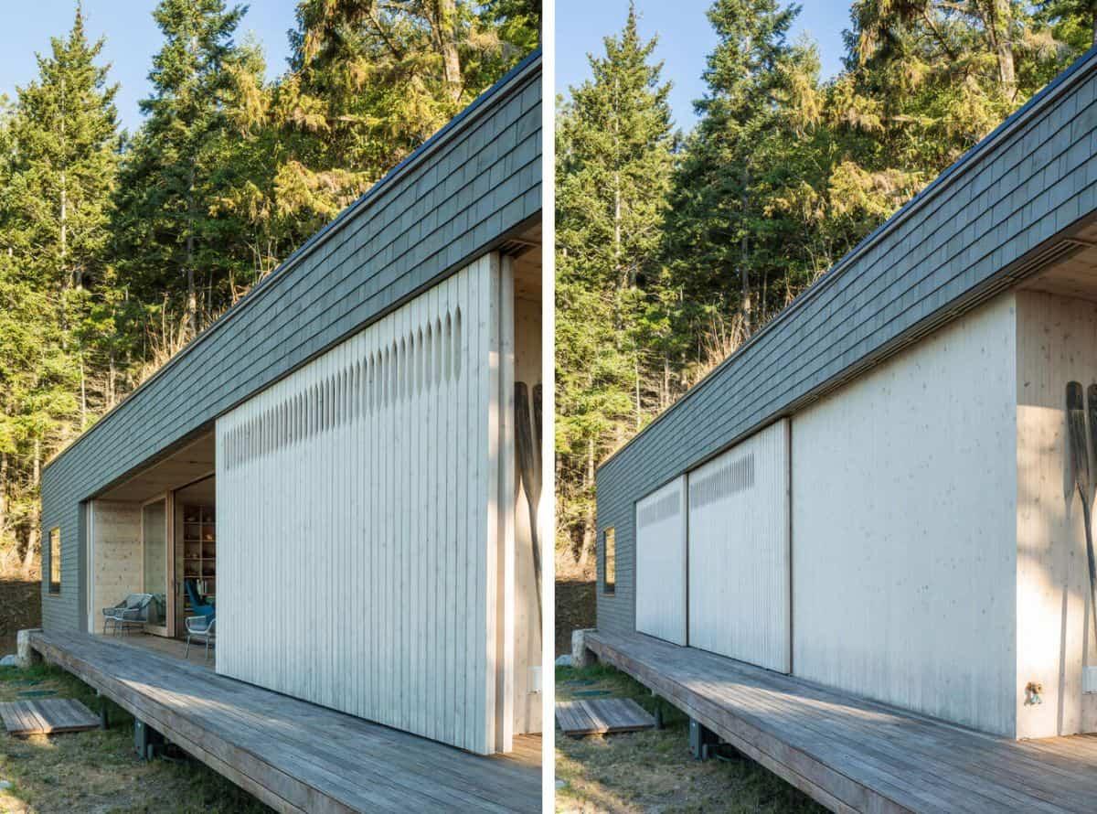 casa de campo moderna Lone Madrone con paneles retráctiles