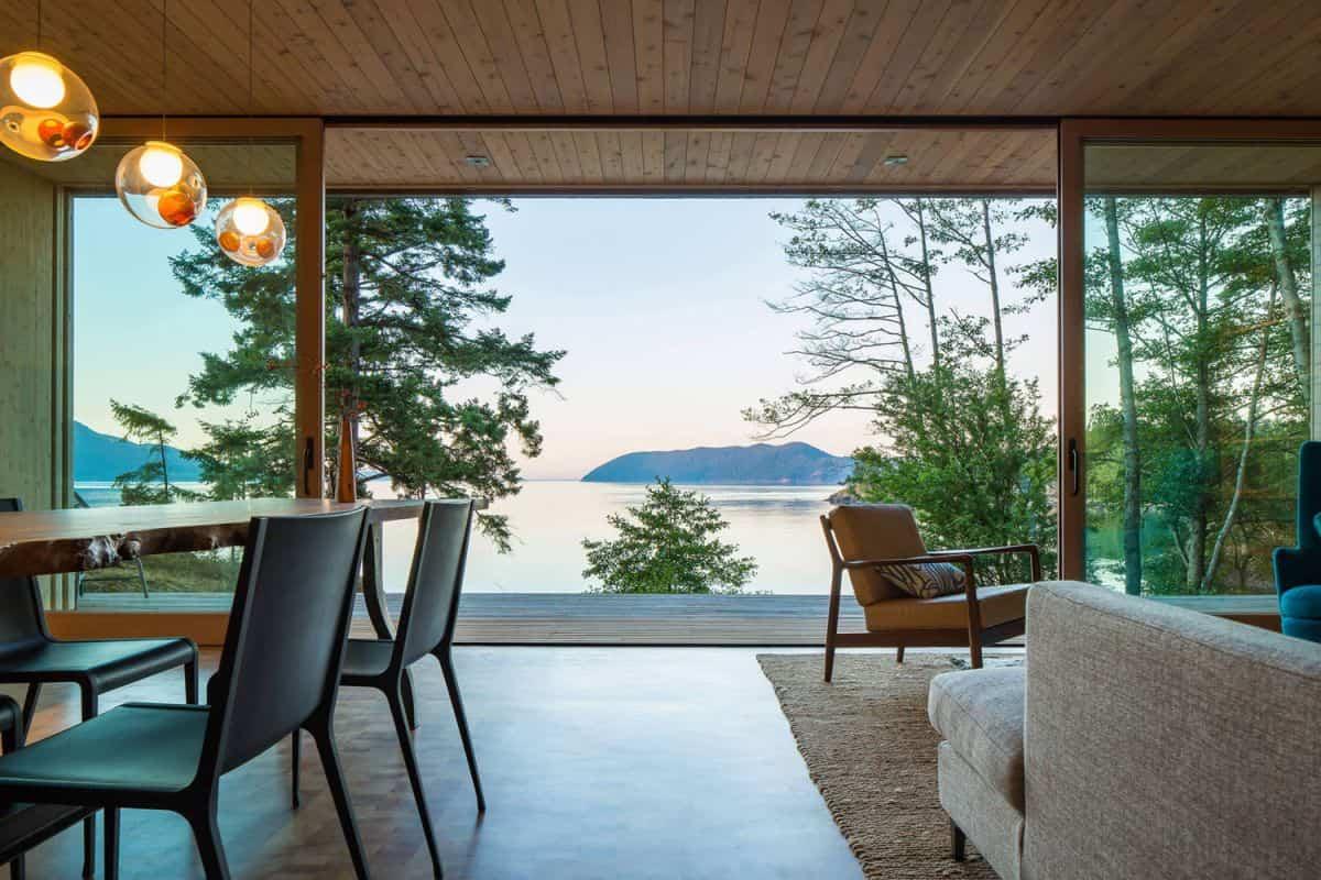casa de campo moderna Lone Madrone con unas vistas impresionantes